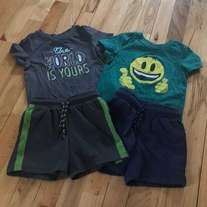 Cat & jack cute boys outfits 2t  💚